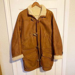EUC 1980's Vintage Burberry Suede Duffle Coat